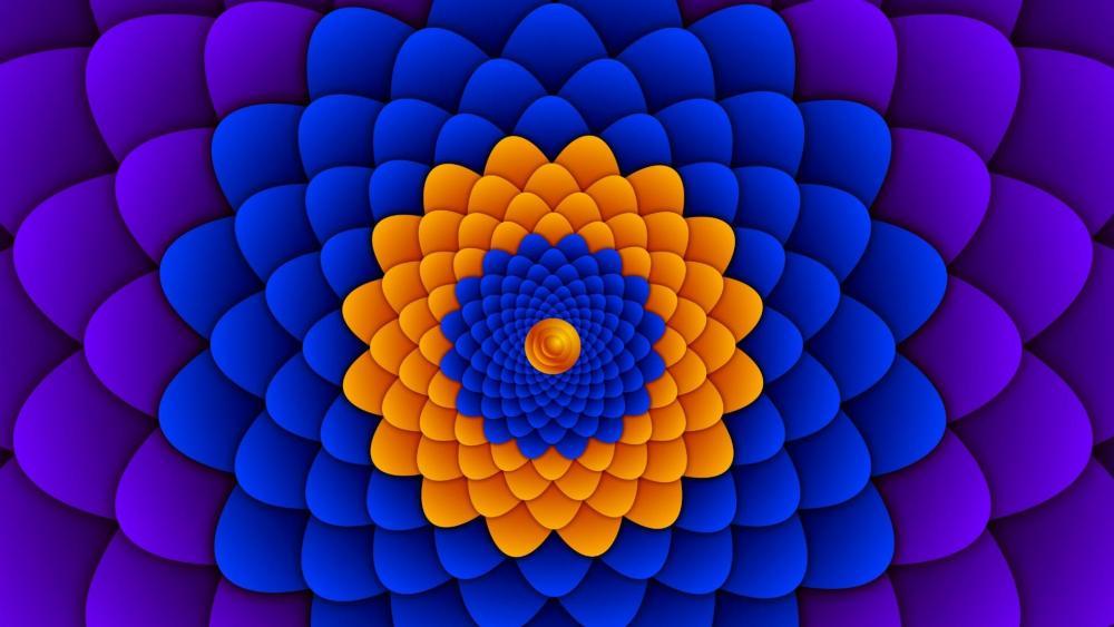 Hypnotic flower artwork wallpaper