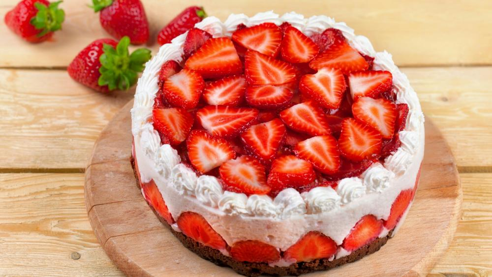 Strawberry cake  wallpaper