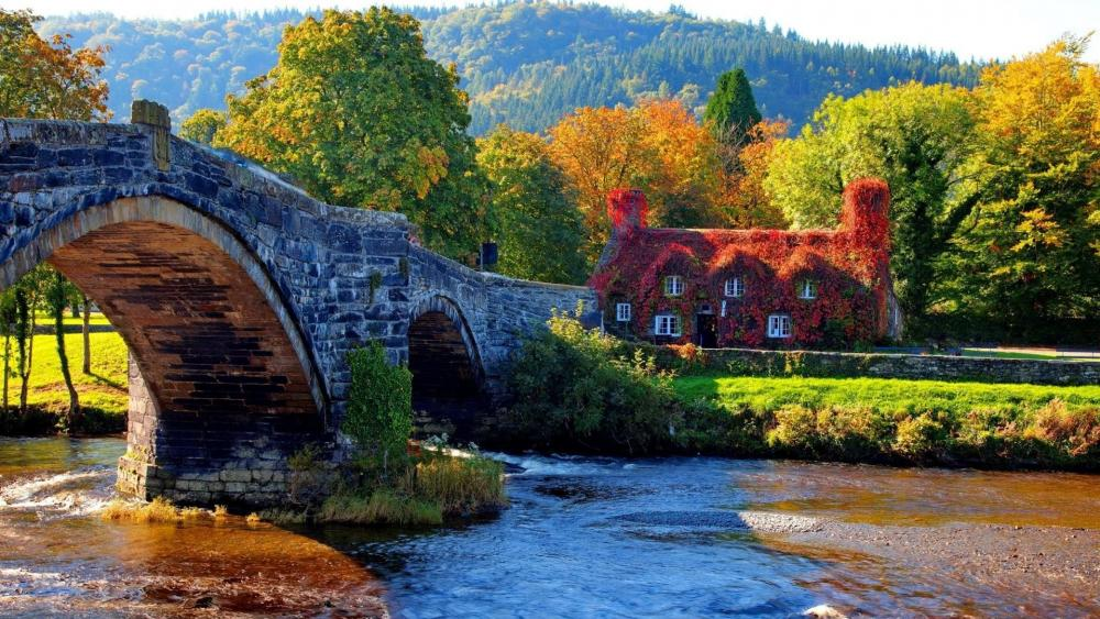 Autumn in Llanrwst  - Wales, United Kingdom wallpaper