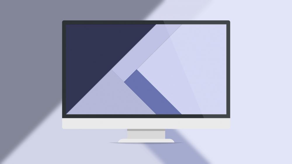 Computer monitor - Material Design wallpaper