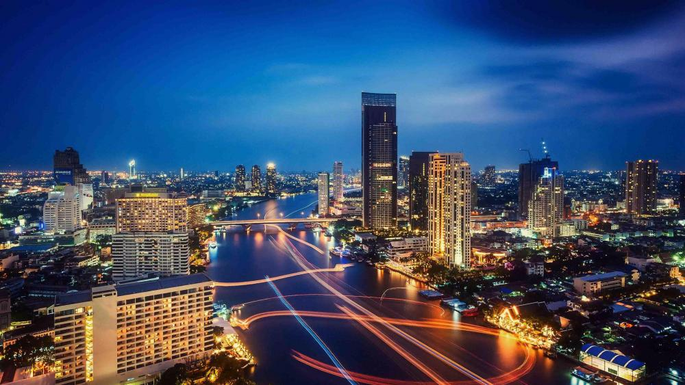 Chao Phraya river in Bagkok wallpaper