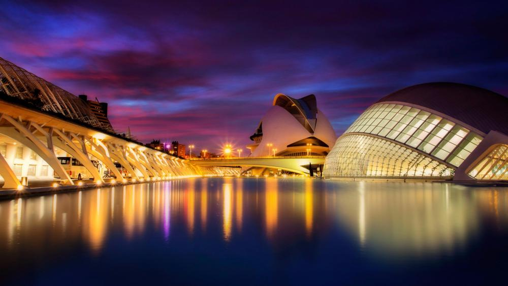 City of Arts and Sciences - Valencia, Spain wallpaper