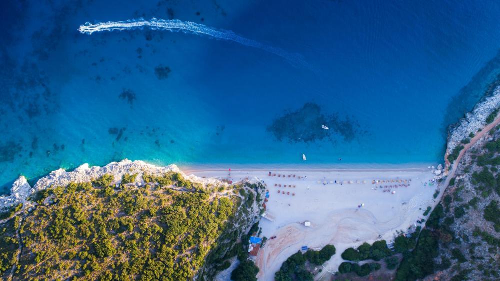 Ionian sea - Gjipe Beach, Albania wallpaper