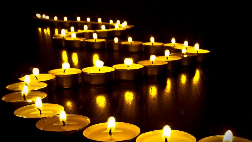 Candle lights wallpaper