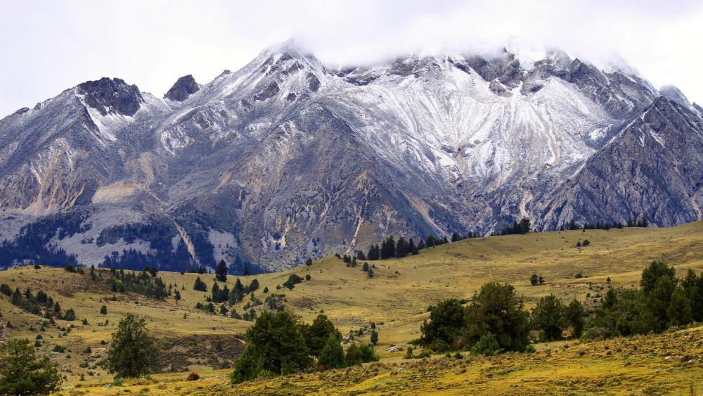 Autumn in Ge'nyen massif - Tibet wallpaper