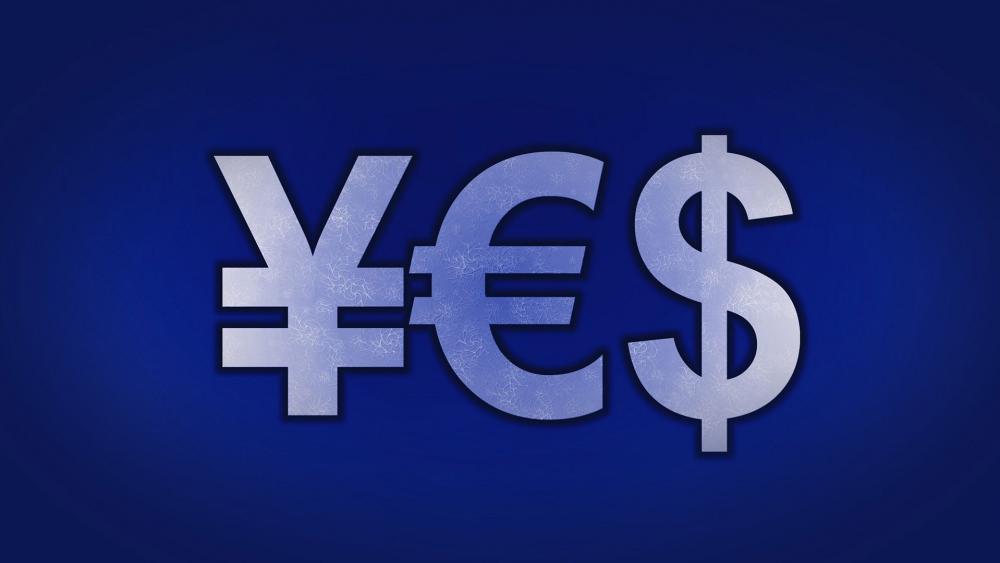 Japanese Yen & Euro & Dollar symbol wallpaper