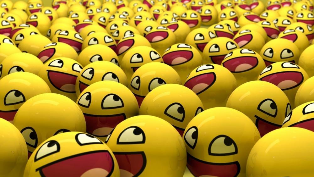 Yellow smiley emoticons wallpaper
