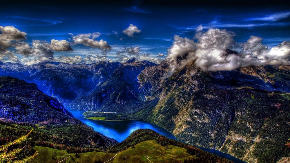 Lake Königssee - Berchtesgaden National Park wallpaper