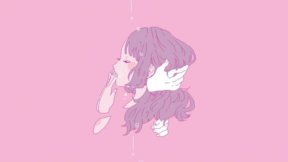 Aesthetic anime girl wallpaper