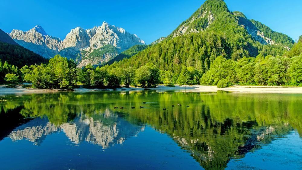Lake Jasna, Kranjska Gora, Slovenia wallpaper
