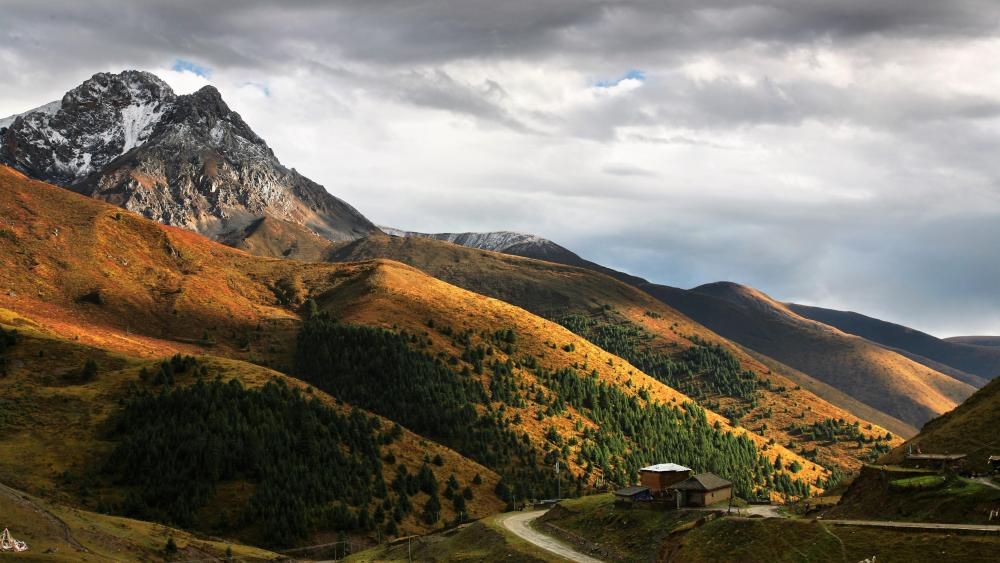 Beautiful mountains - Xiaojin, Sichuan, China wallpaper