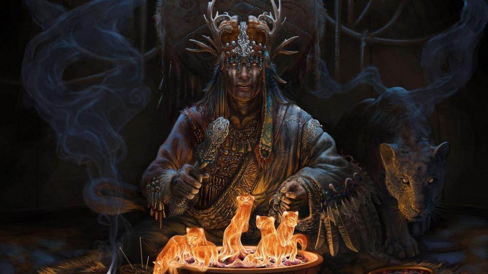 Spiritual Shaman art - Folk inspiration wallpaper