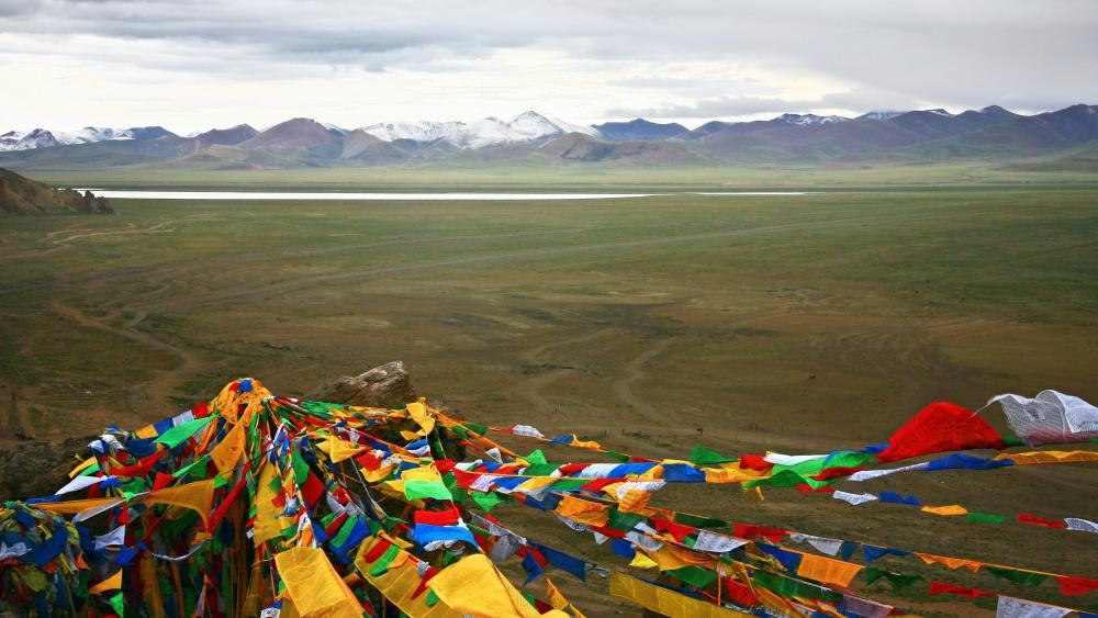 Wind Horse flags - Tibet wallpaper