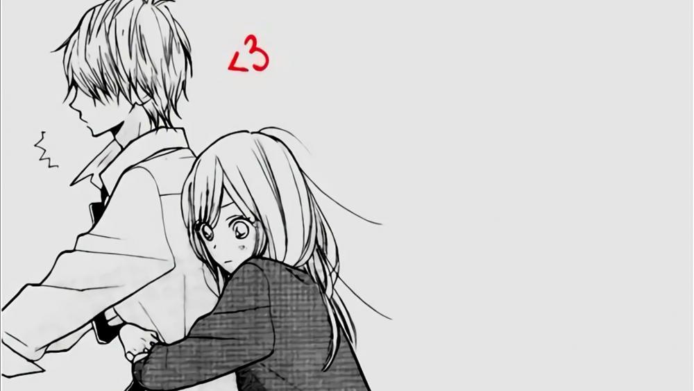 Anime boy and girl wallpaper