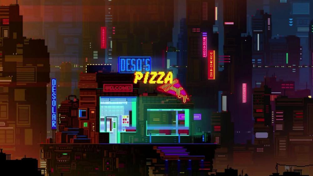 Night city - Pixel art wallpaper