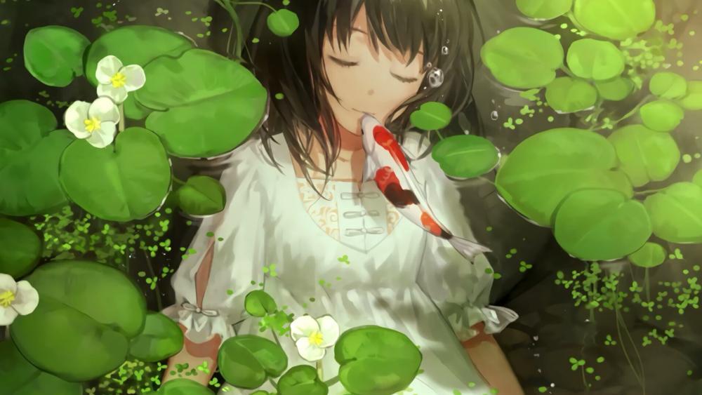 Anime beautiful girl wallpaper