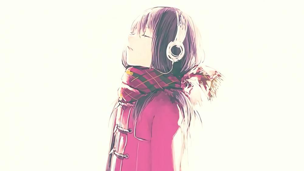 Headphone Girl - Anime Art wallpaper