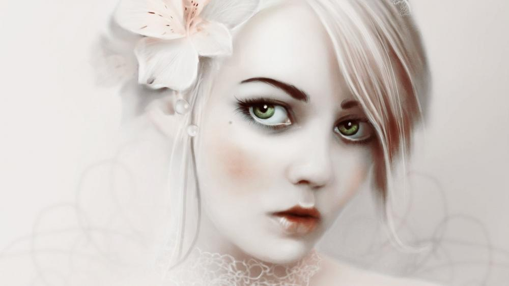 Blonde woman fantasy art wallpaper