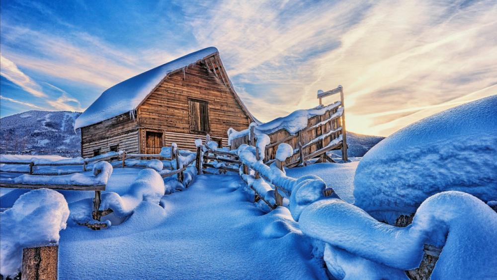 Beautiful winter graphics wallpaper