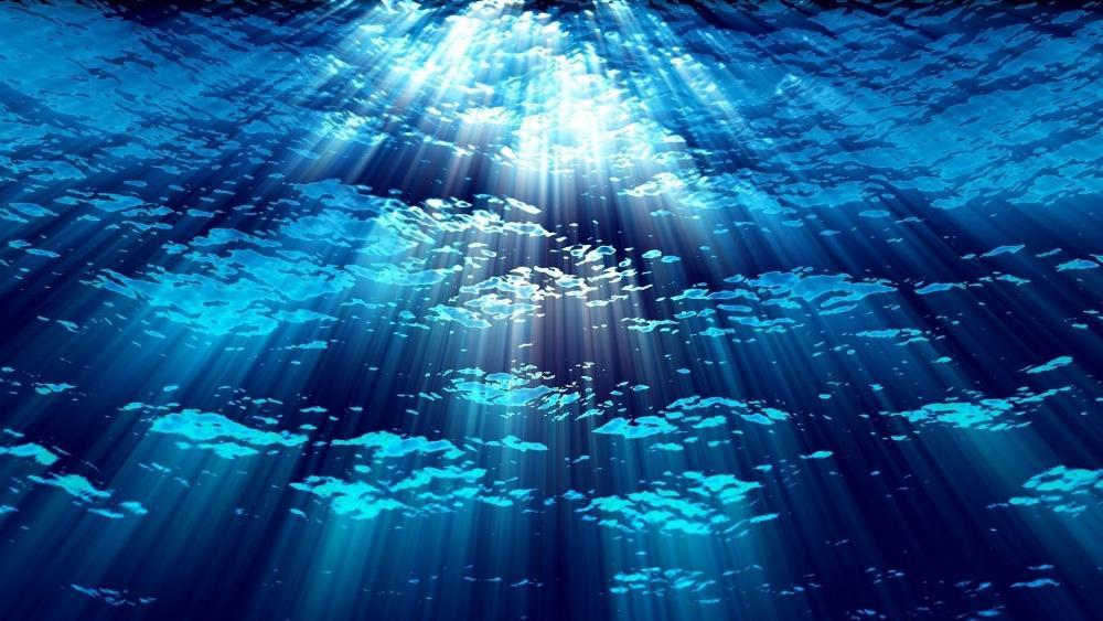 Underwater sun rays wallpaper