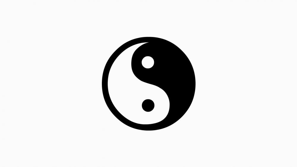 Yin yang symbol wallpaper