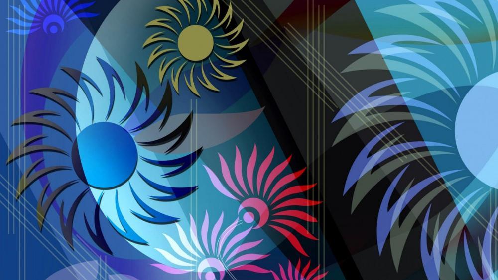 Abstract flower art wallpaper