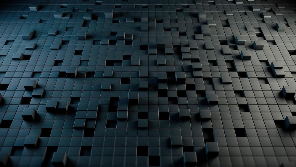 Black cubes wallpaper