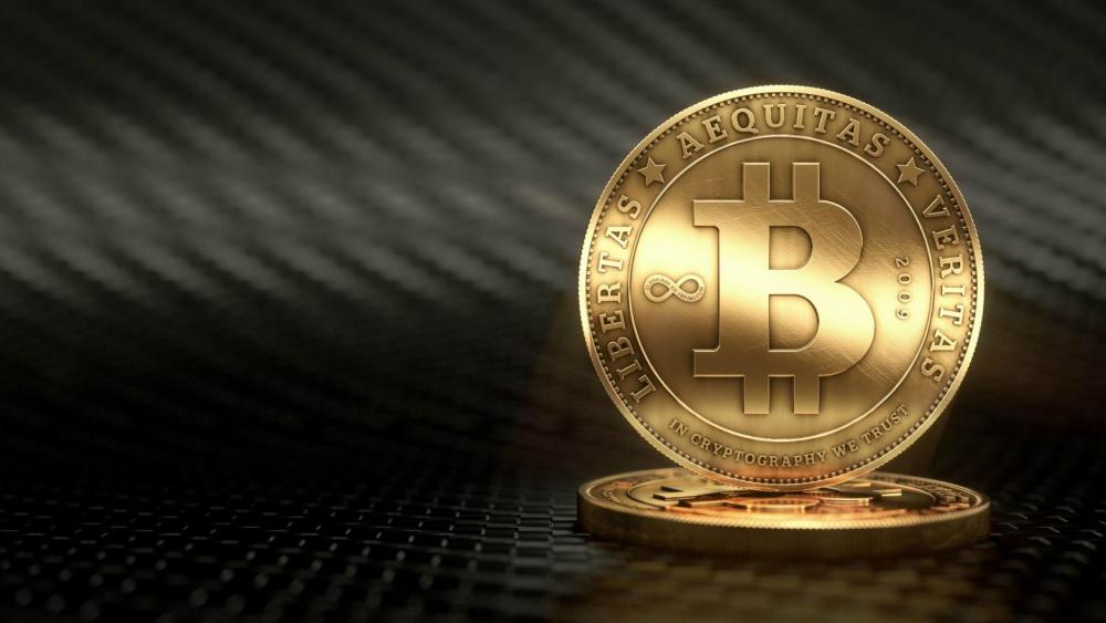 Gold Bitcoin wallpaper