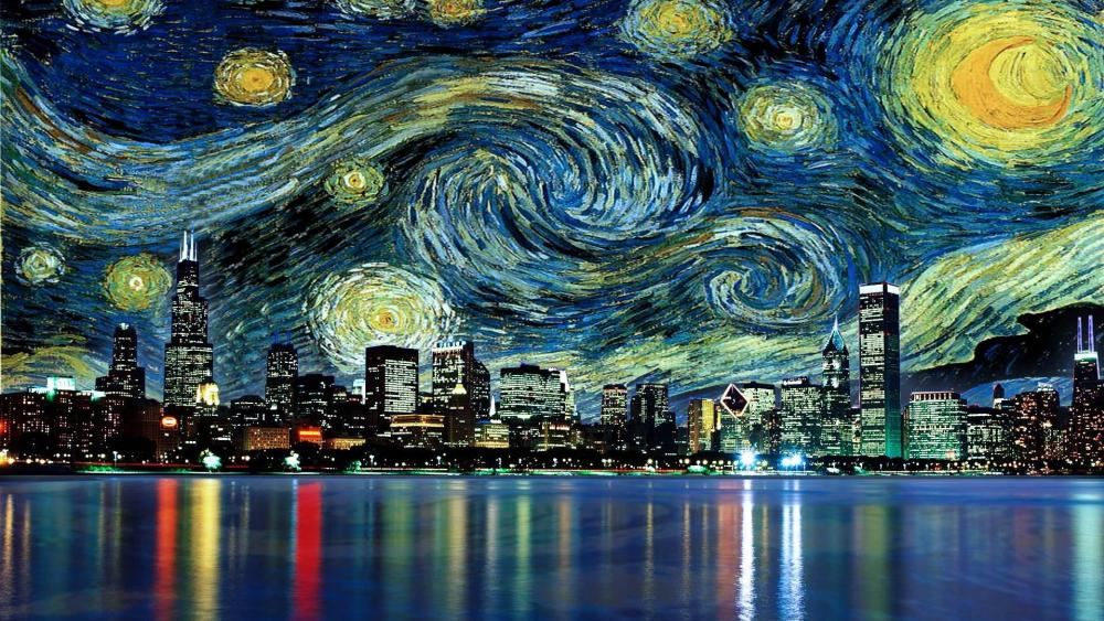 Vincent Van Gogh - The Starry Night wallpaper