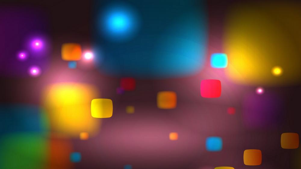 Colorful squares wallpaper
