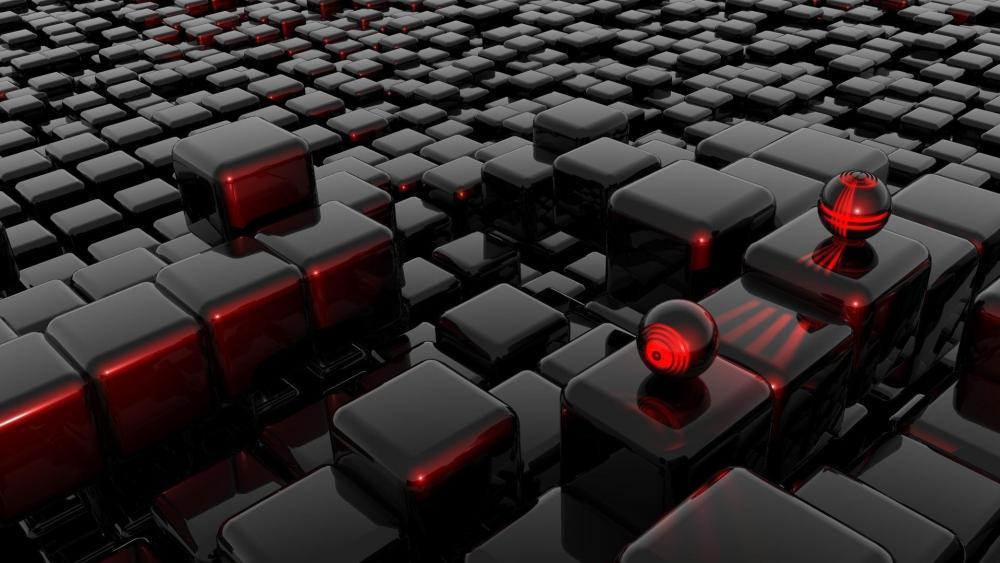 3D computer graphics wallpaper