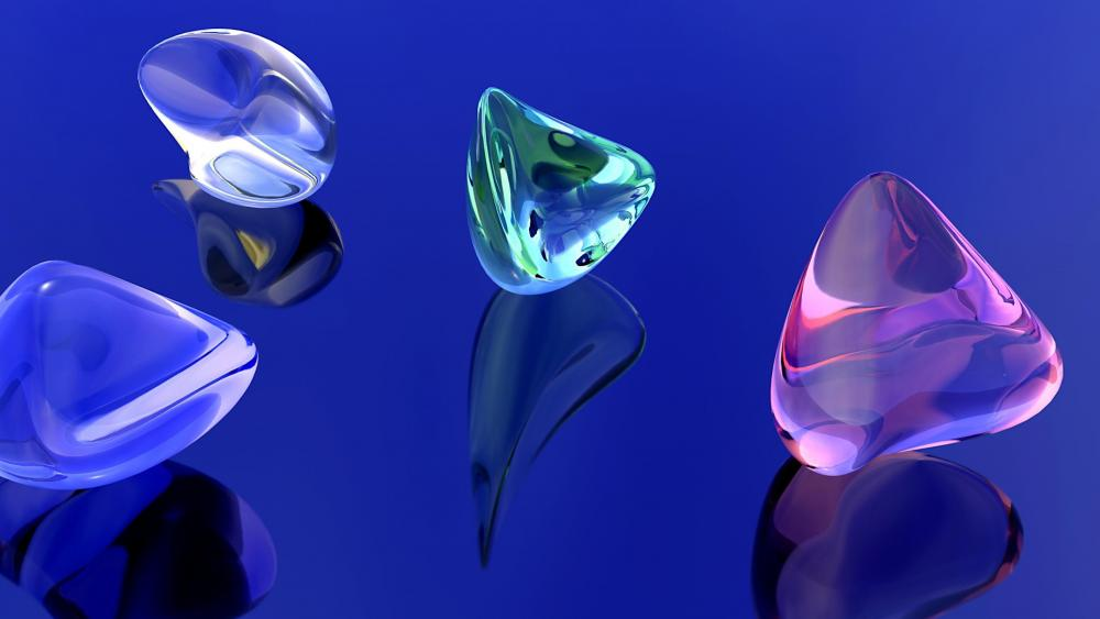 3D gems wallpaper