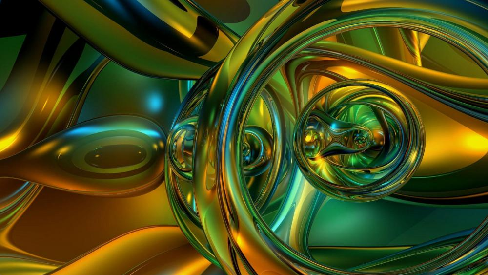 3D liquid digital art wallpaper
