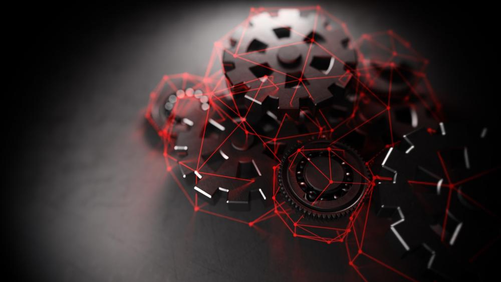3D gears - Digital art wallpaper