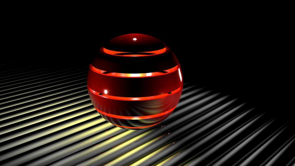 Red 3D sphere wallpaper