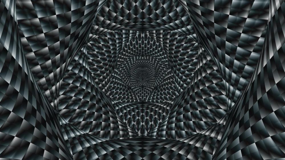 Black and white optical illusion wallpaper