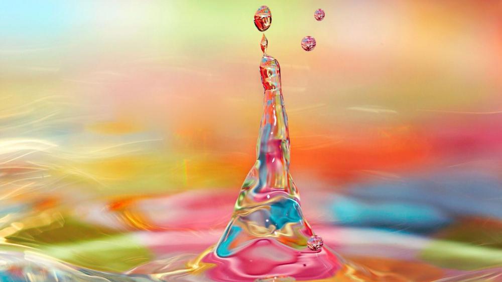 Colorful water splash wallpaper
