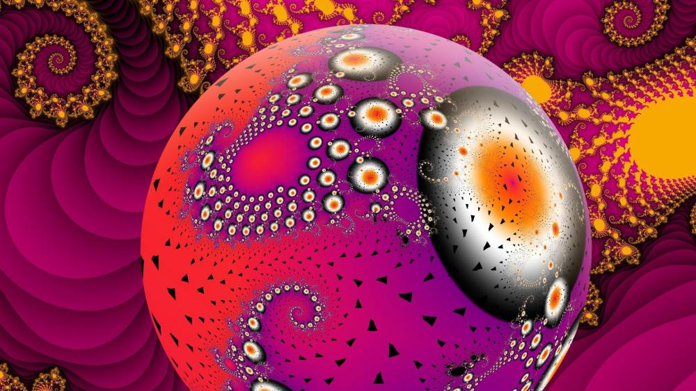Pink psychedelic art wallpaper