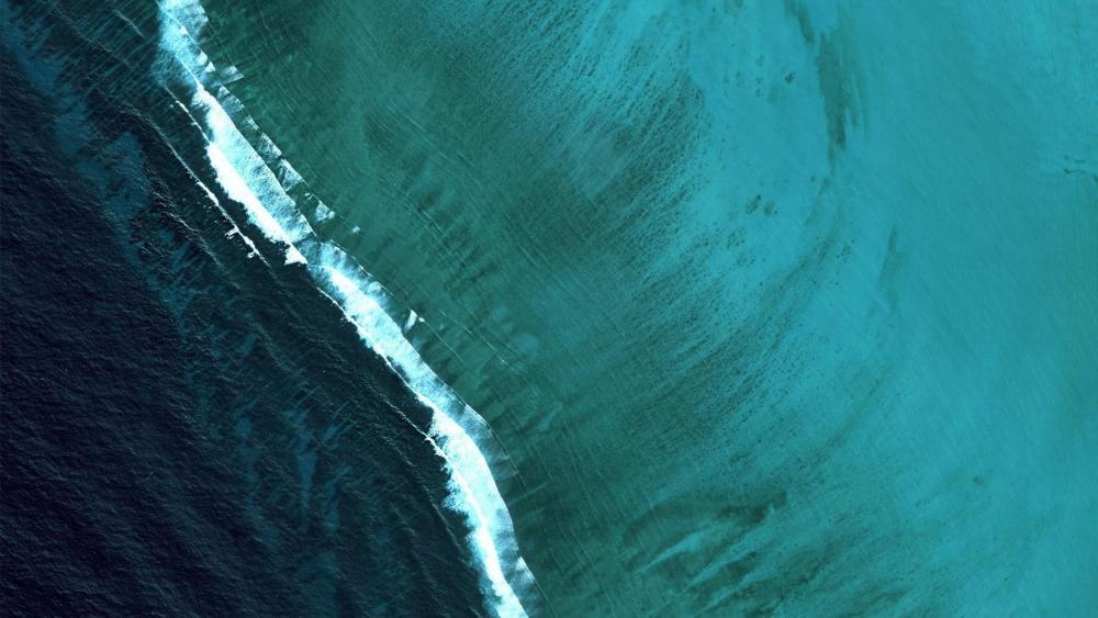 Different sea waters meet wallpaper