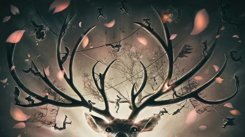 Deer antler - Fantasy art wallpaper
