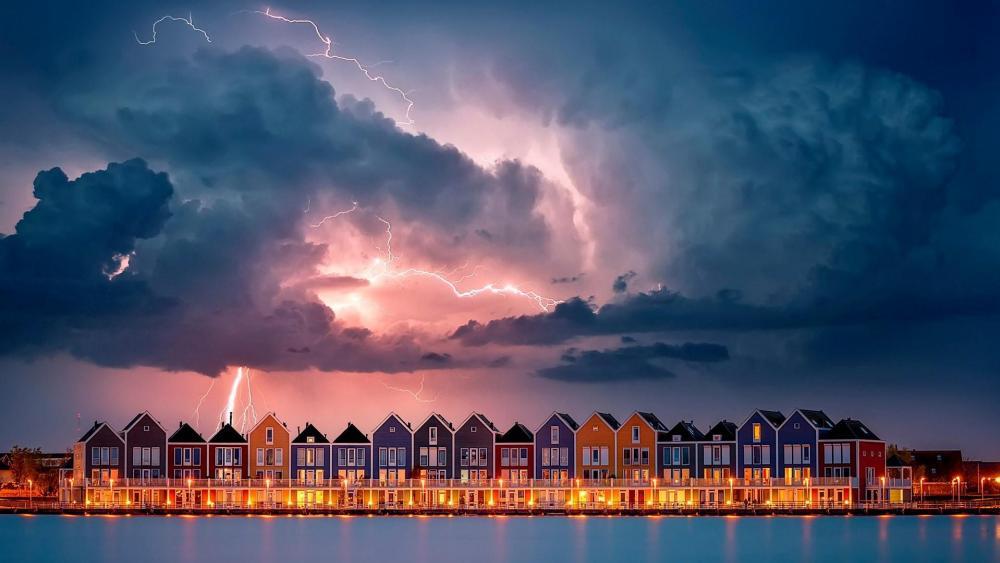 Netherlands during a storm wallpaper