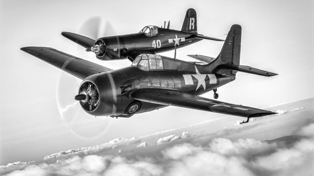 Bomber Airplane American FM-2 Wildcat wallpaper