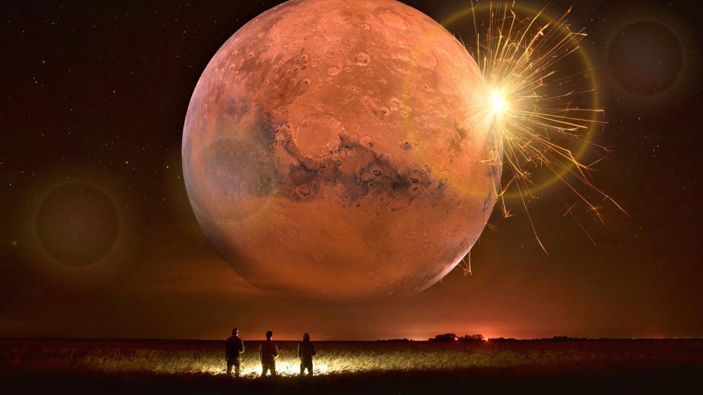MARS - Science fiction art wallpaper