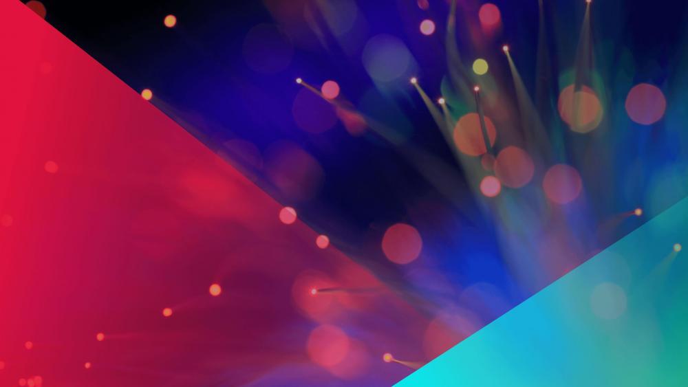 Colourful bokeh lights abstract art wallpaper