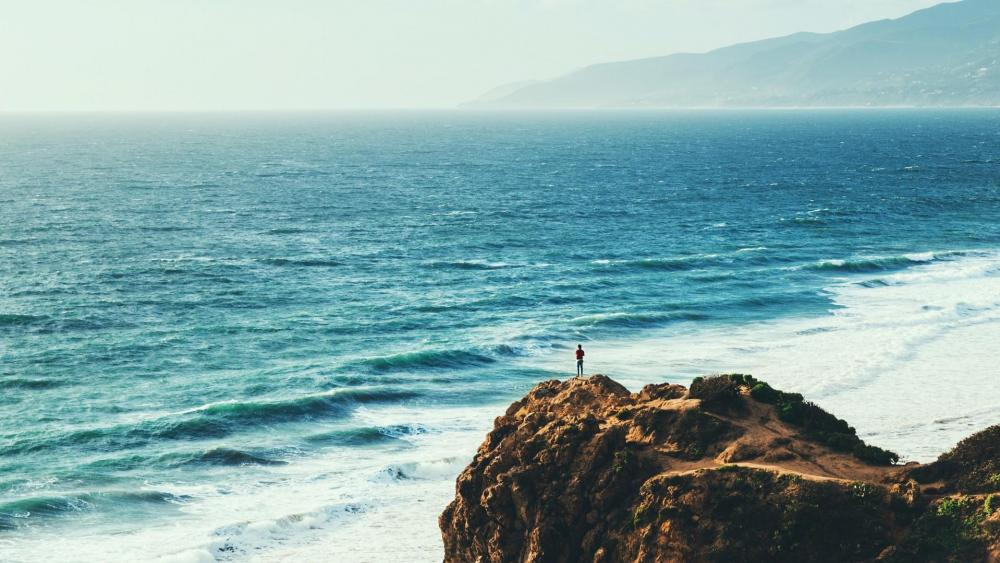 Pacific Ocean from the Point Dume wallpaper