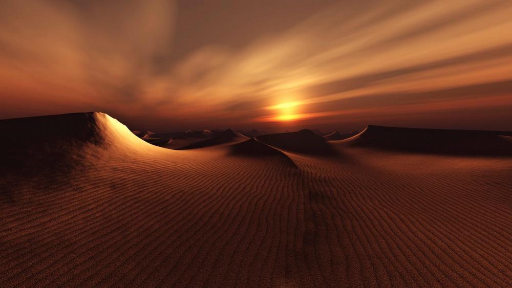Desert sunset wallpaper
