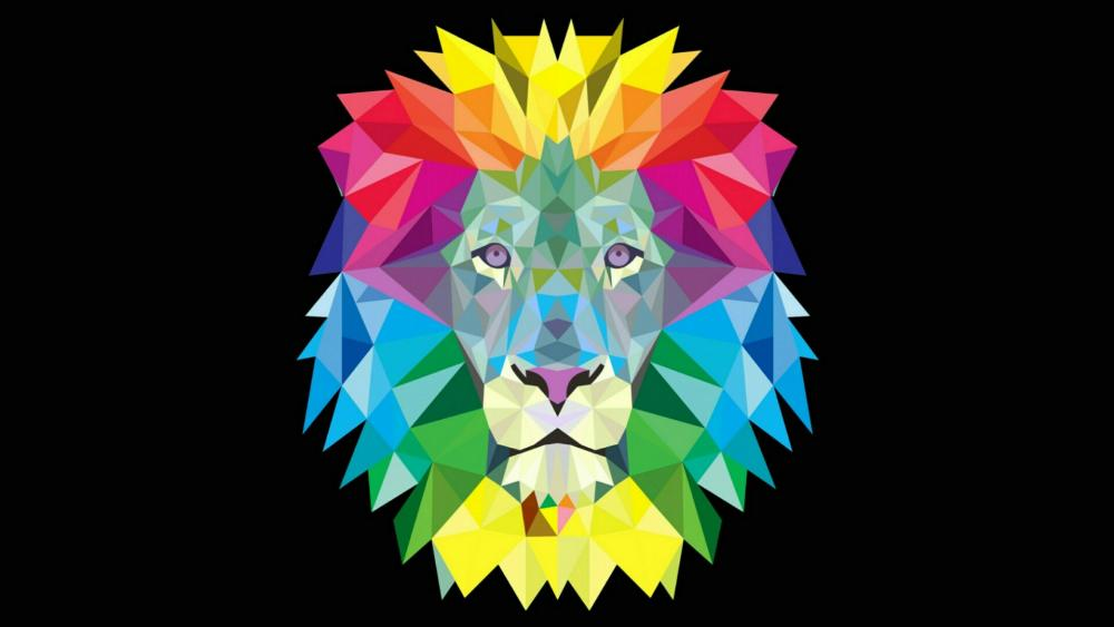 Colofrul lion head wallpaper