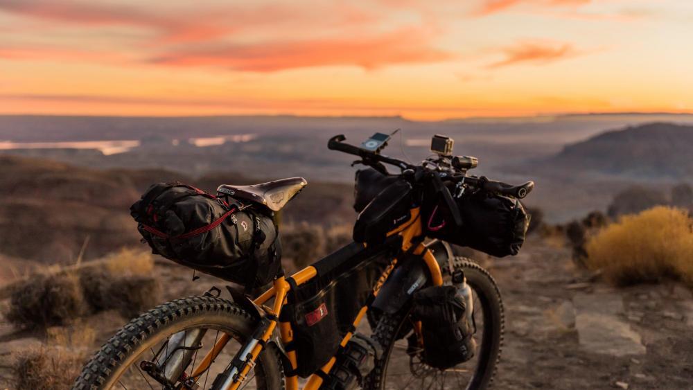 Mountain bike trip wallpaper