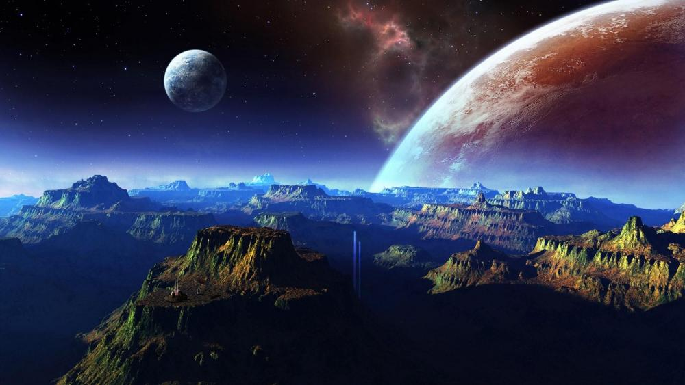 Mountains in the planet wallpaper