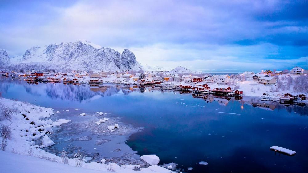 Reine - Breathtaking fishing village in Norway wallpaper